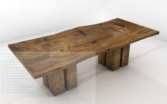 Astonishing Teak Wood Solid Wood Dining Table Arts Traditional Design