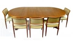 Mid Century Modern Extending Danish Teak Dining Table