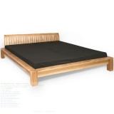 Low teak bed bars headboard