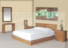 solid teak wood bed