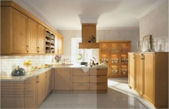 teak wood kitchen cabinet