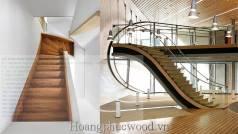 Cầu thang gỗ Teak, 3 kiểu lắp đặt: thẳng, vòng cung, xoắn - HCM, quận 2,7