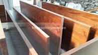 Cửa một cánh gỗ Teak, cửa phòng gỗ Giả tỵ - TD A1