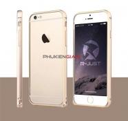 Ốp viền kim loại iPhone 6 Plus bo tròn kẻ chỉ