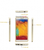 Ốp viền nhôm Galaxy Note 3 bo tròn kẻ chỉ