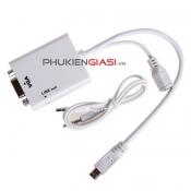 Cáp MHL to VGA dùng kết nối điện thoại Samsung, HTC, Oppo, Sony sang máy chiếu