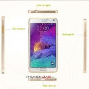 Ốp viền Galaxy Note 4 bo tròn kẻ chỉ