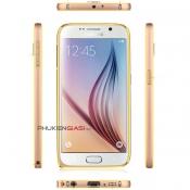 Ốp viền Samsung Galaxy S6 bo tròn kẻ chỉ