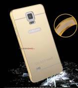 Ốp lưng gương mica gương viền nhôm Samsung Galaxy Note 4