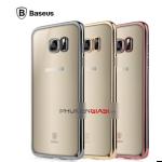 Ốp dẻo trong suốt viền tráng crom Samsung S7 Edge chính hãng Baseus