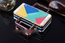 Ốp viền nhôm Samsung A5 2016 bo tròn kẻ chỉ