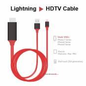 Cáp kết nối HDMI cho iphone, ipad ( lightning to HDTV Cable)_ không dùng personal hospot