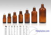 Chai thủy tinh đựng tinh dầu nâu giá rẻ
