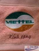 Khăn thêu logo Viettel