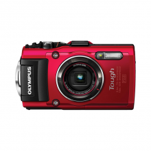 Olympus Stylus TOUGH TG-4 Digital Camera (Black/Red)