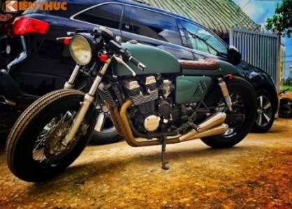"""Honda CB750 độ cafe racer """"siêu ngầu"""" tại Sài Gòn"""