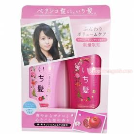Sét dầu gội và xả Ichikami màu hồng