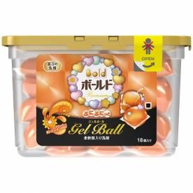 Hộp viên giặt Gel Ball Japan màu vàng (18 viên)