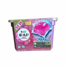 Hộp viên giặt Gel Ball Japan màu hồng (18 viên)