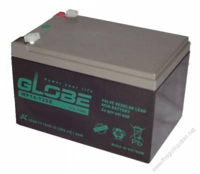 Bình ắc quy kín khí (AGM VRLA) Globe 12V-14Ah