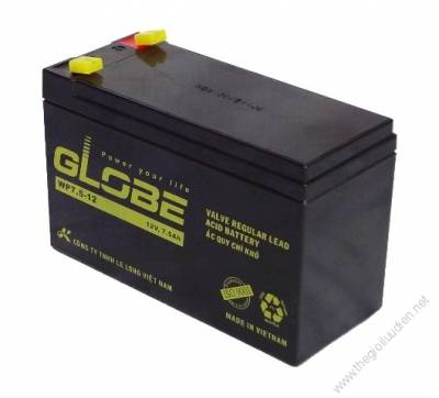 ắc quy (AGM VRLA) Globe 12V-7.5Ah