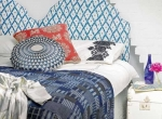 Không gian phòng ngủ màu xanh hòa bình
