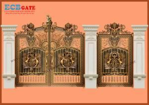 Cửa cổng hợp kim nhôm đúc đặc