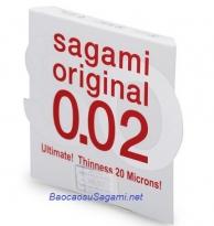 Bao cao su siêu mỏng Sagami Original 0.02 (Hộp 1c)