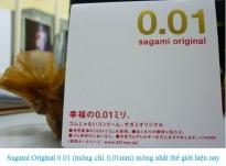 Bao cao su Sagami Original 0.01mm mỏng vô đối