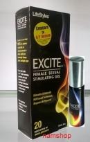Gel tăng khoái cảm Excite Lifestyle giúp phụ nữ hưng phấn hơn.