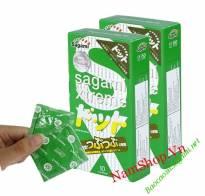 Bao cao su Sagami Xtreme Green, siêu mỏng, gai gân, một lần thắt