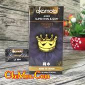 Bao cao su mỏng trơn Okamoto Crown siêu truyền nhiệt