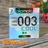 Bao cao su siêu mỏng Okamoto 003 Cool cực mát