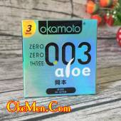 Bao cao su siêu mỏng Okamoto 003 Aloe tinh chất nha đam