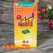 Bao cao su siêu gai nổi Okamoto Dot Hot 1350 hạt gai