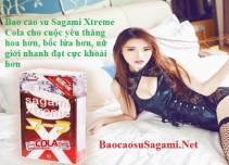 Bao cao su Sagami Xtreme Cola hương thơm Coca Cola