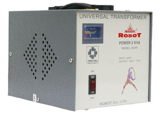Ổn áp Robot 1pha 2KVA 125-240V