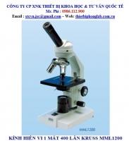 KÍNH HIỂN VI 1 MẮT 400 LẦN KRUSS Model: MML1200