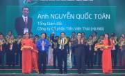 TGĐ Nguyễn Quốc Toán vinh dự nhận giải thưởng Doanh nhân trẻ khởi nghiệp xuất sắc 2017