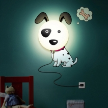 Đèn ngủ Decal hình chó đốm
