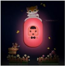 Đèn ngủ Decal Búp bê (hồng)
