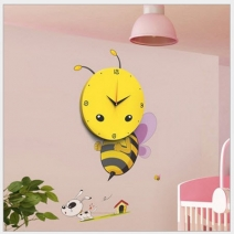 Đồng hồ Decal Ong vàng