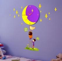 Đồng hồ Decal Chúc bé ngủ ngon