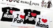 Áo I Love Papa & Mama
