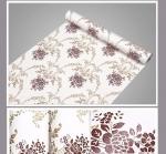 Decal cuộn họa tiết vintage nền trắng