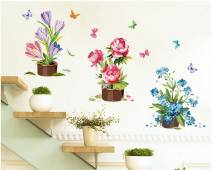 Decal dán tường Chậu hoa xinh số 2