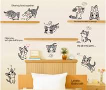 Decal dán tường Mèo con số 1
