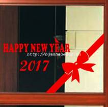Decal Happy New Year 2017 ( size lớn)