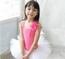 Váy múa hồng đính hoa 3D