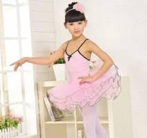 Váy múa hồng 2 dây